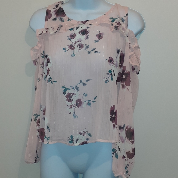 👚3 for $25👗Material Girl Pink Blouse🇨🇦 L
